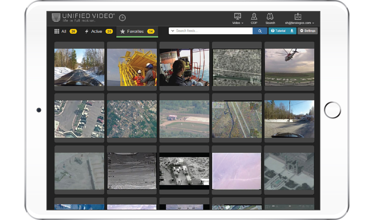 Live and archived video streaming solutions; full motion video streaming platform; easy to use; cloud based full motion video; DOD; UAV; Intelligence, surveillance, reconnaissance tool; KLV meta data; map mashups; line 21 KLV; map overlays; map tagging; temporal data; sensor data streaming platform; live video; archived video; geospatial search features